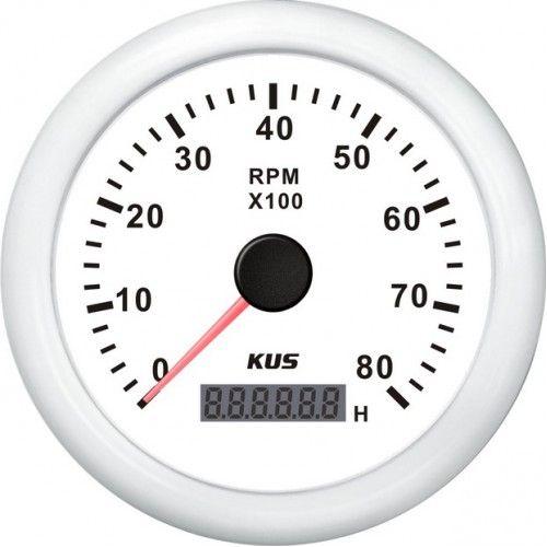 Тахометр 8000 об/мин для ПЛМ (WW)  Высокая точность, превосходная надежность и совместимость. Монтажный размер:85mm. Разъем: мульти-розетка подключения вилки Фоновый свет: красный или желтый  Отображаемый диапазон значений: 0~8000rpm. Рабочее напряжение:12/24В. Класс защиты: IP7; может работать до 1м под водой                  Свойства                     КодТовара                     11036
