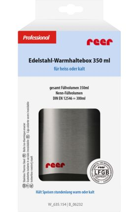 Edelstahl-Warmhaltebox, 350ml