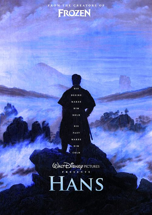 This is just too good. I wish they really would make a movie with Hans. It wouldn't even have to be directly tied in with Frozen.  Am I the only one just praying the fact that he has 12 brothers is leading somewhere? Like, I don't know, something with a dozen princesses dancing...?