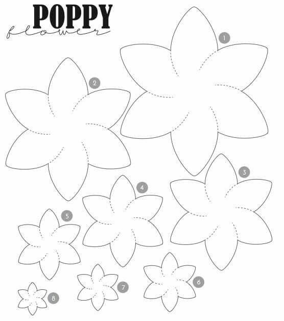 30 best flower template images on Pinterest Paper flowers - flower template