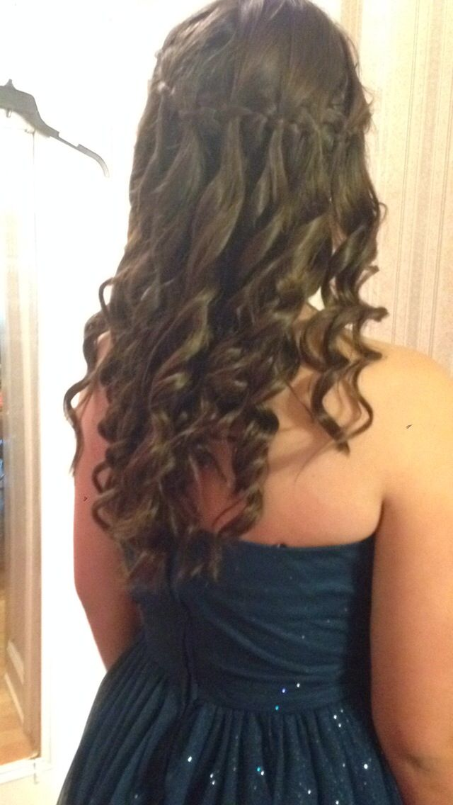 Hairstyles For Eighth Grade Dance : Best images about grad hair on waterfall