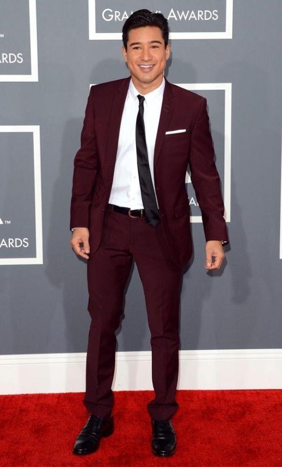 Burgendy colour suit?