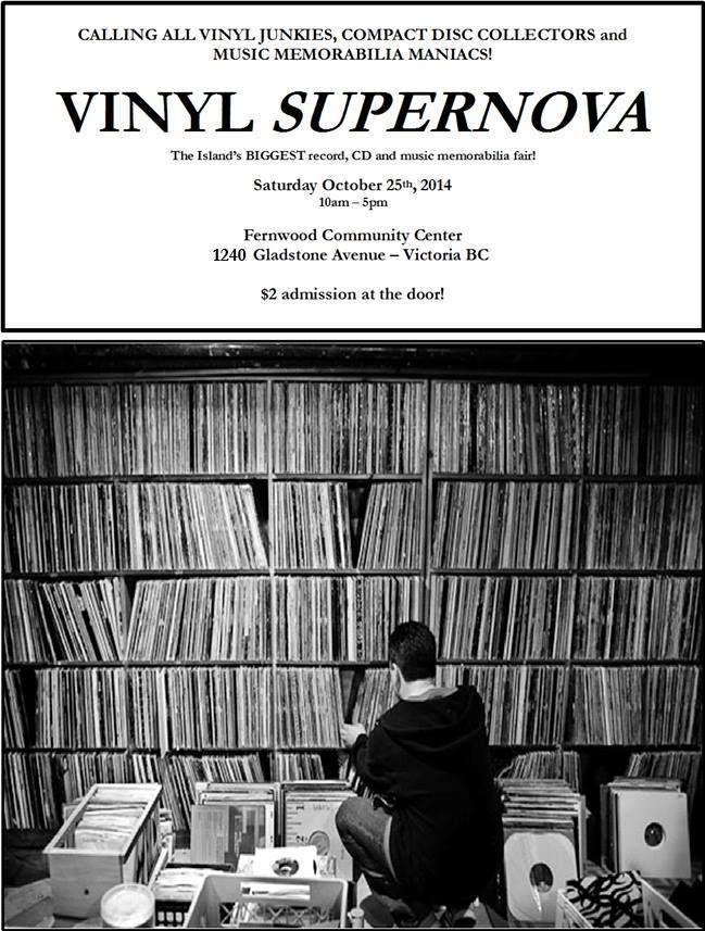 Vinyl Supernova Record Fair – Oct. 25, 2014  http://fernwoodnrg.ca/vinyl-supernova-record-fair-oct-25-2014/
