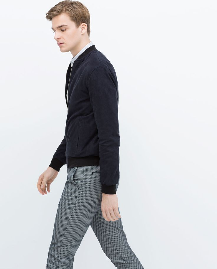 Image 1 of TWO-TONE STRUCTURED TROUSERS from Zara