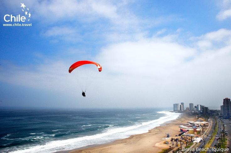 Paragliding in Brava Beach, Iquique, #Chile