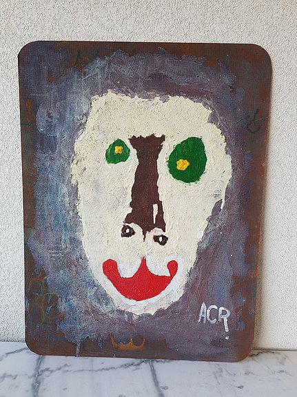 Tableau+acrylique+mixte+(86)+Strange.+Acr