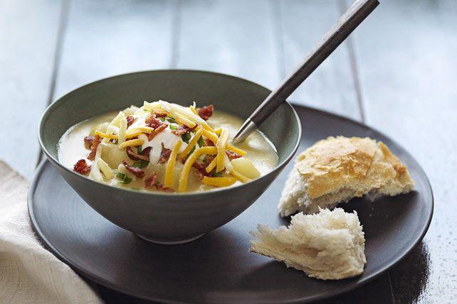Slow-Cooker Loaded Baked Potato Soup Recipe