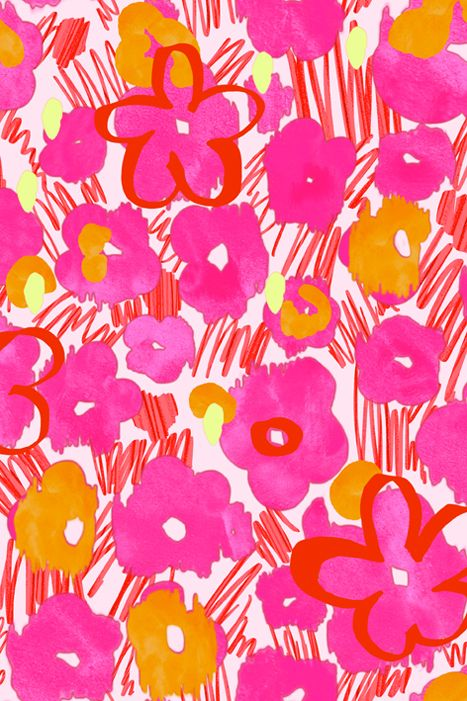 Matthew Williamson spring/summer 2014 Graffiti Daisy print in Pink. #MatthewWilliamson #SS14 #Prints