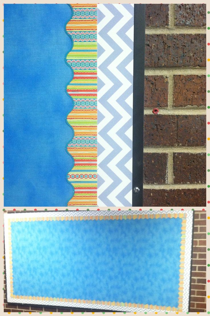 Classroom Decor Chevron : Double layer border with ervan woo teaching press chevron