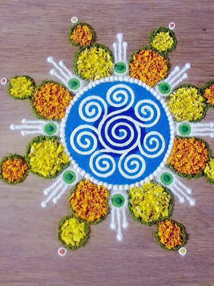 Pin by Harshith on flowers decoration Rangoli designs