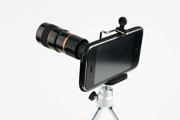 Looks funny, but could be handy in a pinch! Iphone lens