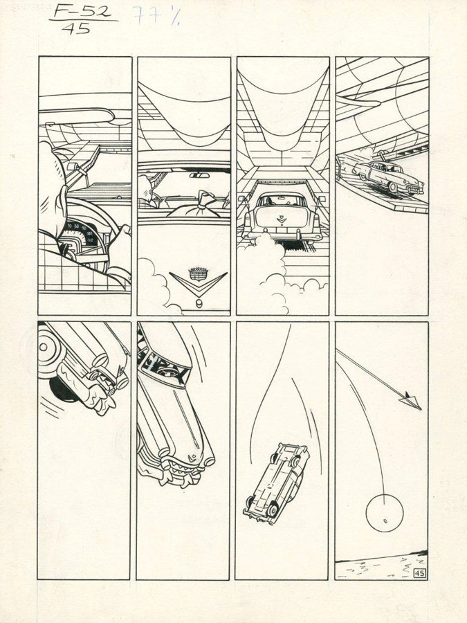 F-52, planche 45, Yves Chaland, 1989.