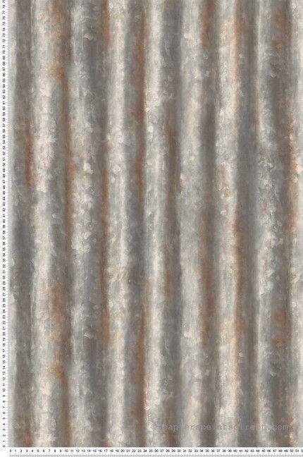 Tôle ondulée gris foncé - Collection Fabrique de Lutèce