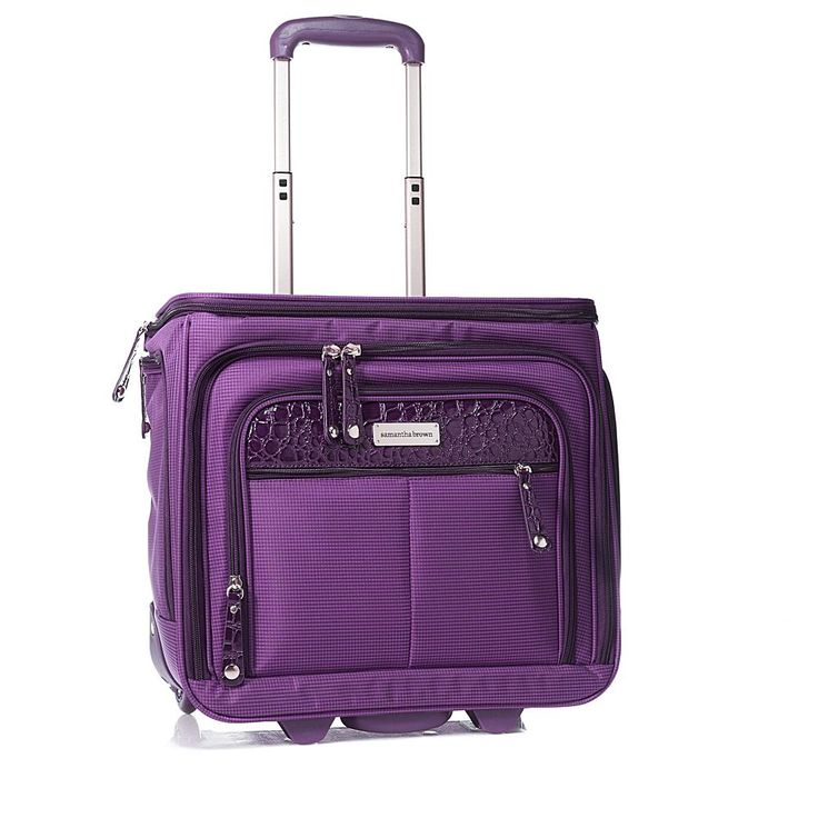 Samantha Brown Expandable Cabin Bag - Purple