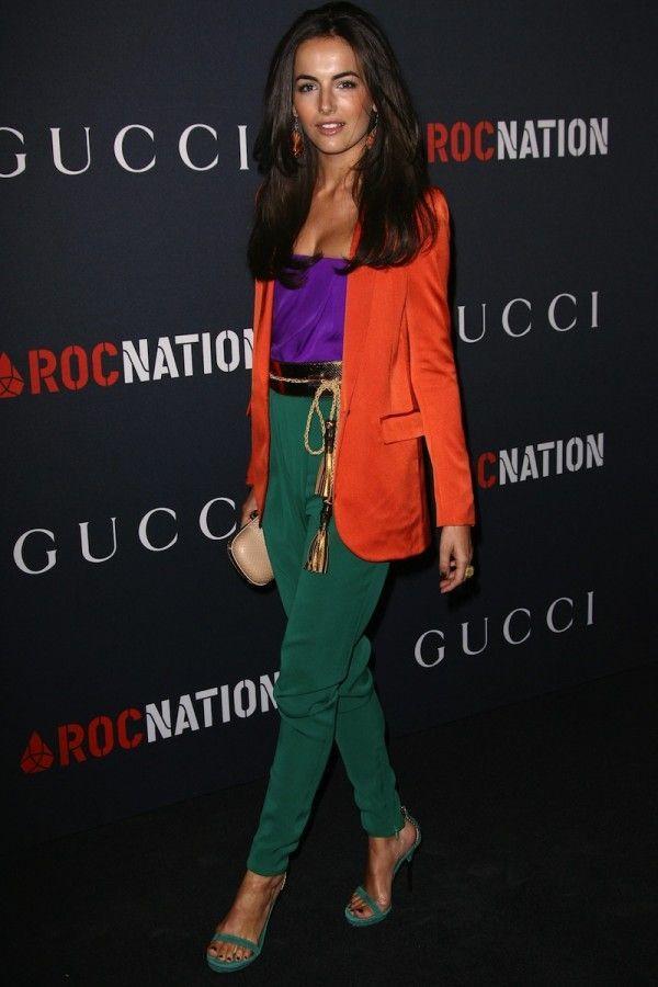 gorgeous color block outfit