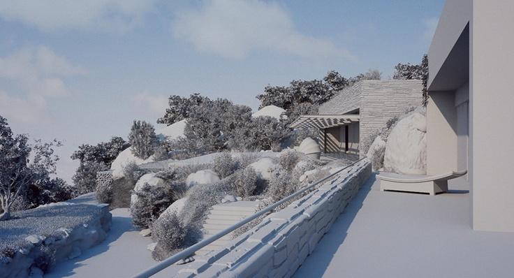 3D clay render - Architecture - Studio Aiko - villa