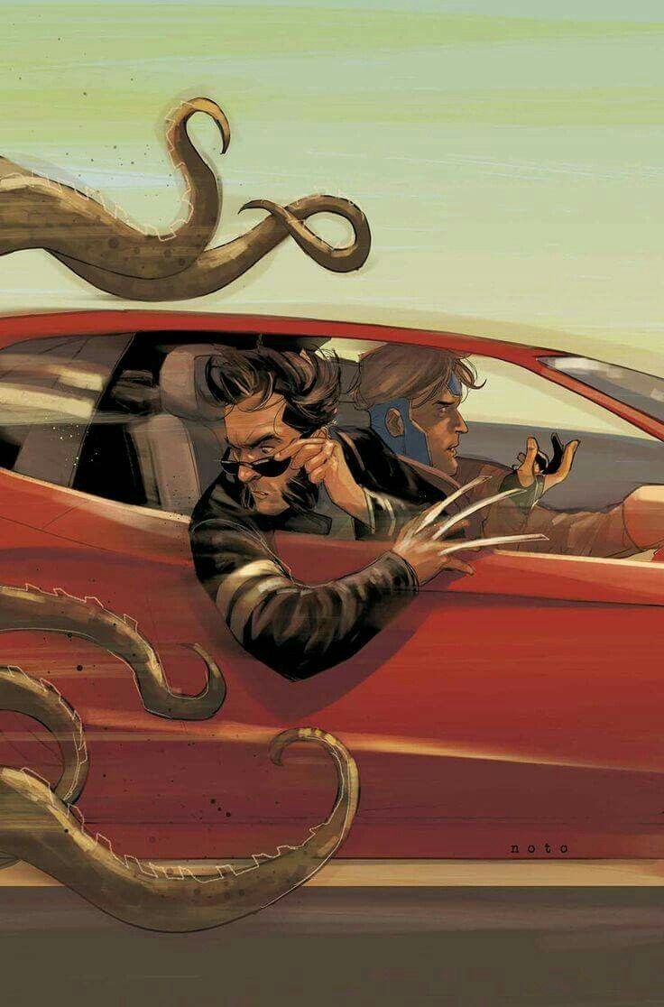 Gambit and Wolverine by Phil Noto