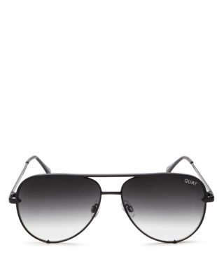 Quay High Key Mini Aviator Sunglasses, 53mm | Bloomingdale's