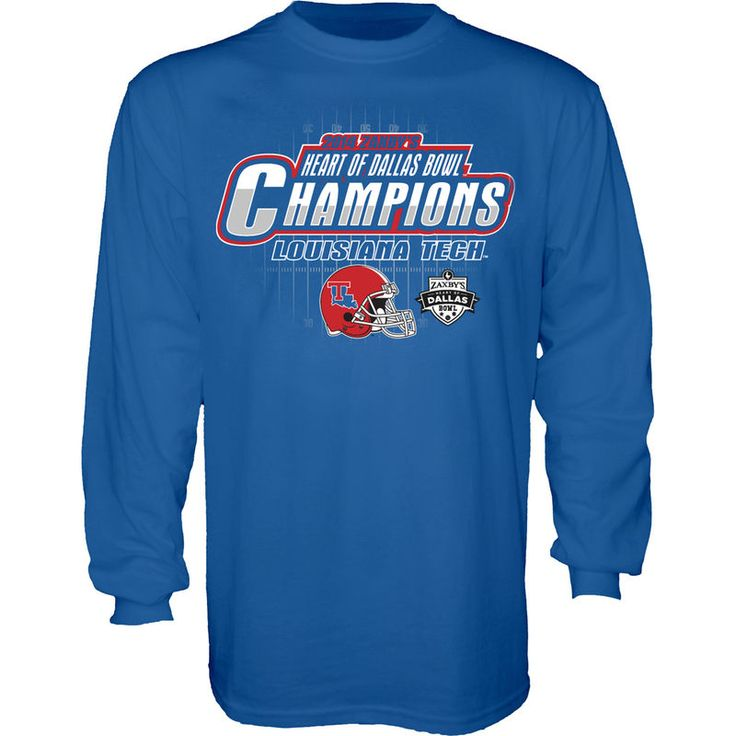 Louisiana Tech Bulldogs 2014 Heart of Dallas Bowl Champions Long Sleeve T-Shirt – Royal Blue