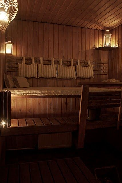 Sauna-Yes, I have always wanted one of these. Love them. One day, I will.