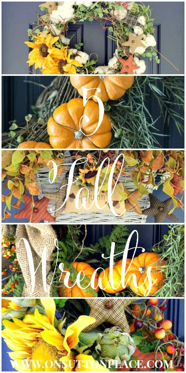 5 Fall Wreath Ideas | from On Sutton Place