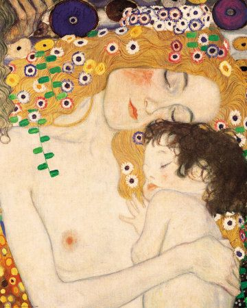 KlimtArtists, The Kisses, Mothers And Child, Mothers Day, Art Prints, Children, Gustav Klimt, Posters, Painting