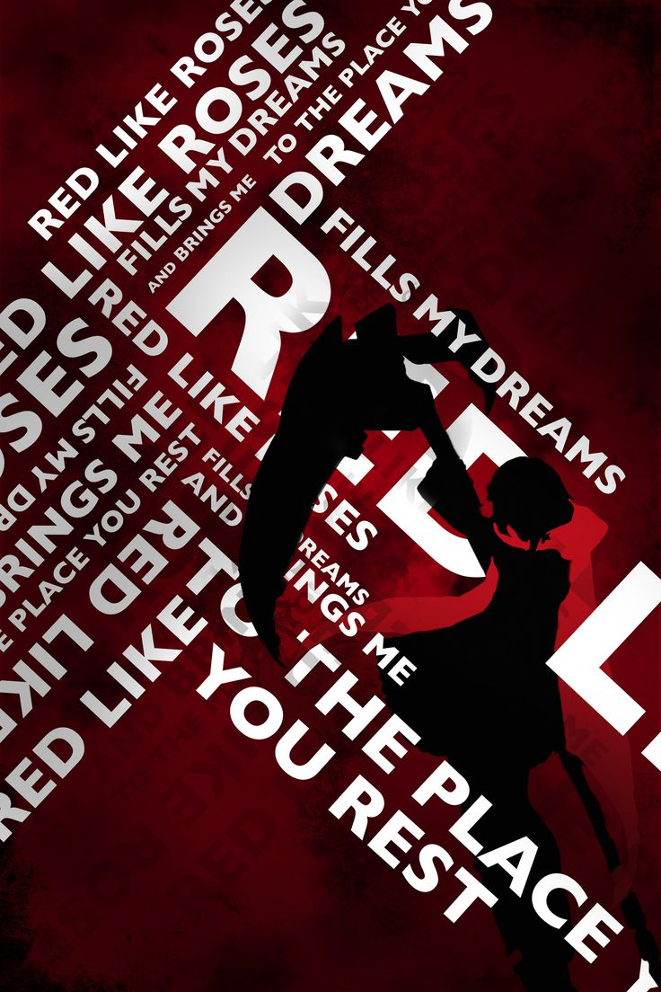 Red Like Roses RWBY Typography Poster by OutlawRave.deviantart.com on @deviantART