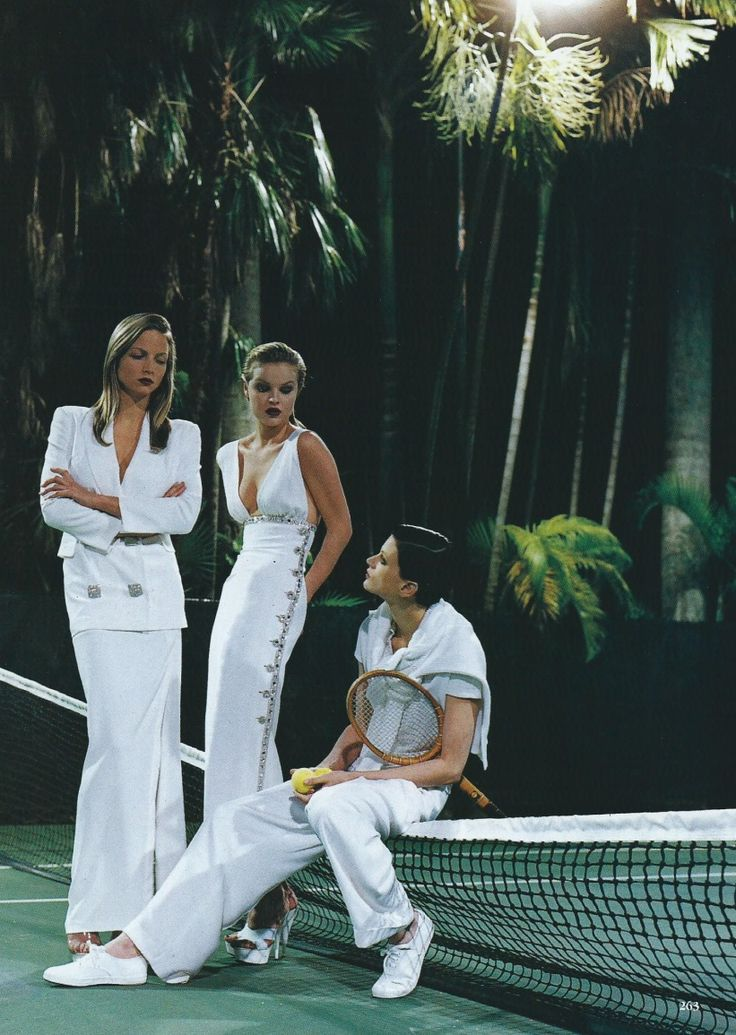 'White Mischief' - Rachel Williams, Kristen McMenamy & Eva Herzigova by Helmut Newton