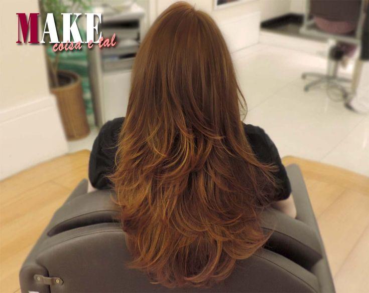 Corte de cabelo em camadas. Amo!