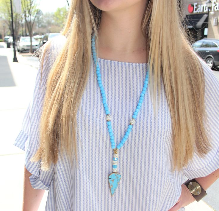 Get the UNC Game Day Necklace at Luxe Angel Boutique in Charlotte, NC or shop online!