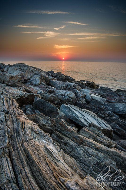 Sunrise at Rye Beach in Rye, New Hampshire - Philip Alex Photography