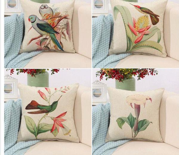Compre rubihome aves print cushions no interior dise o - Cojines de diseno ...