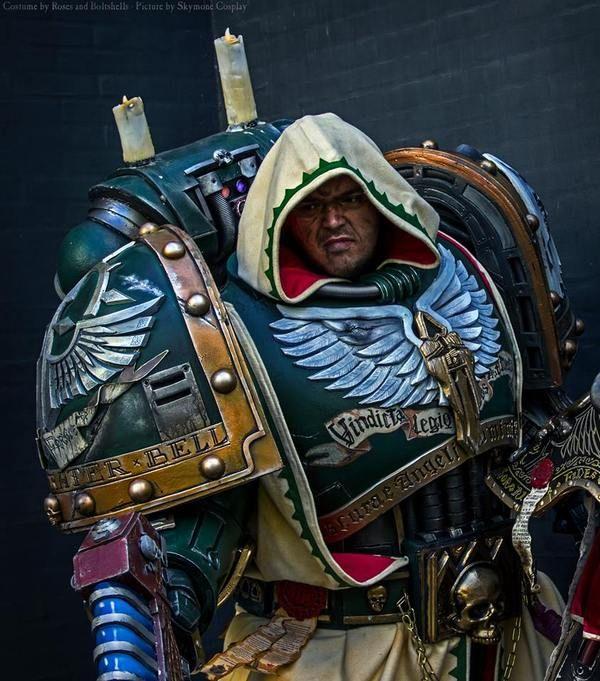Брутальный косплей Warhammer 40k, косплей, длиннопост, темные ангелы, adeptus astartes