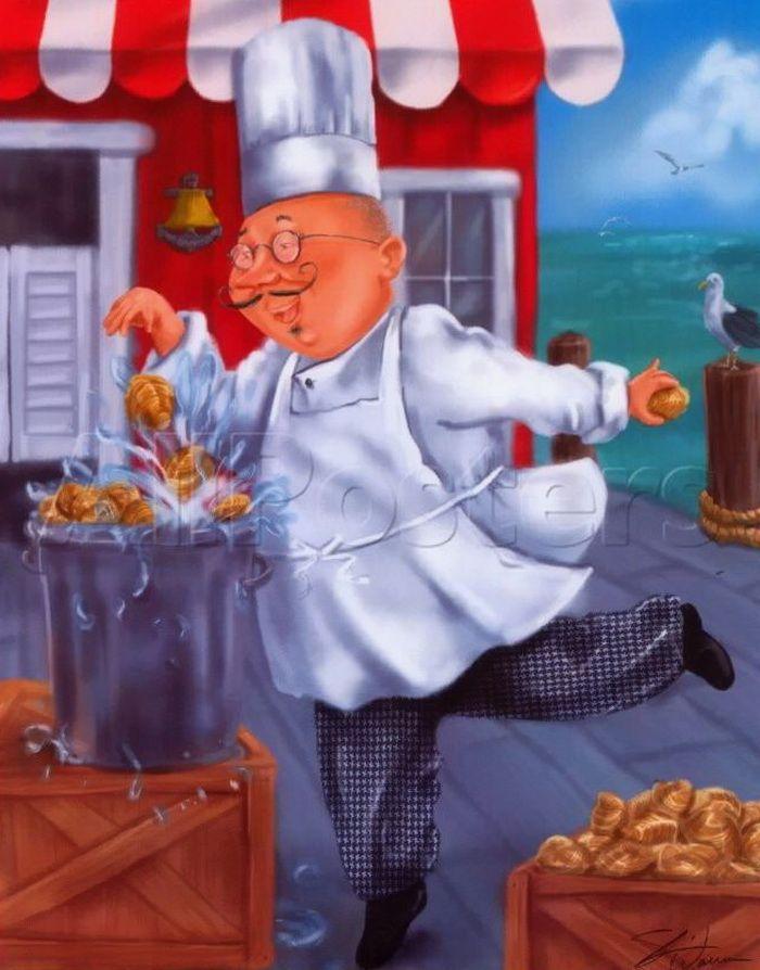Картинки поваров на кухне смешные