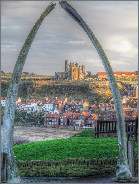 Whale Bones, The Abbey & St Mary's Church, Whitby, UK by robin denton, via Flickr The Whalebone commemorates the historic link with Whitby's whaling industry