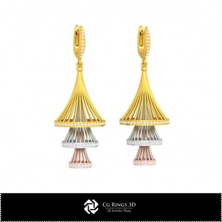 3D CAD Earrings