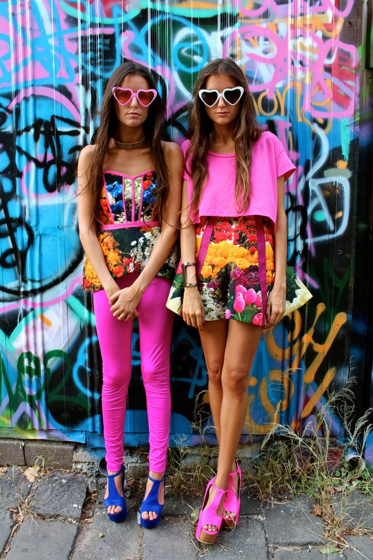 Floral prints and bright, vibrant hues. From the blog How Two Live