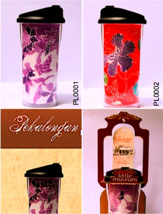 Beauty flowers bouquet! Real batik fabric from Pekalongan - Indonesia on the tube of quality tumbler!