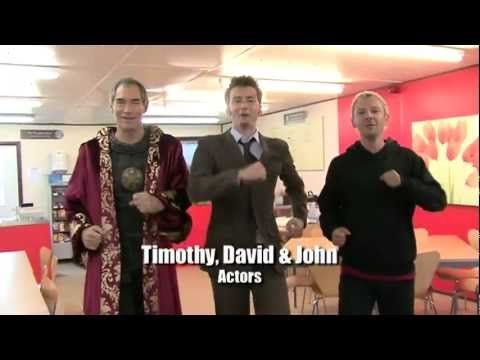 Doctor Who - Cast & Crew Special - Tennant's Wrap Party singing 500 Miles. This was my favorite song when I was little :) oh Ood, you made my day lol!