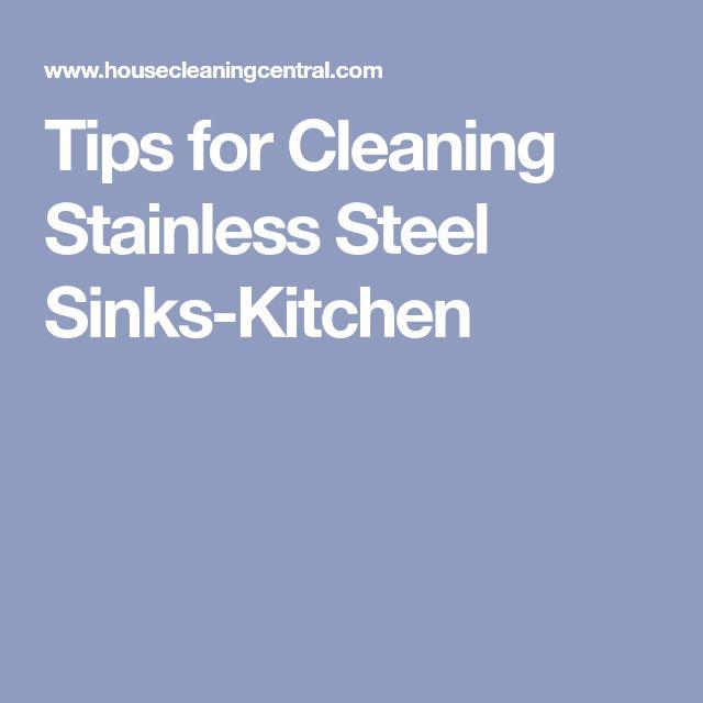 Best 25+ Clean Stainless Sink Ideas On Pinterest