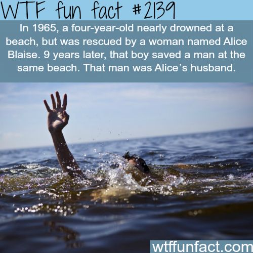 A woman saves a kid at the beach… - WTF fun facts- woah~~ fate