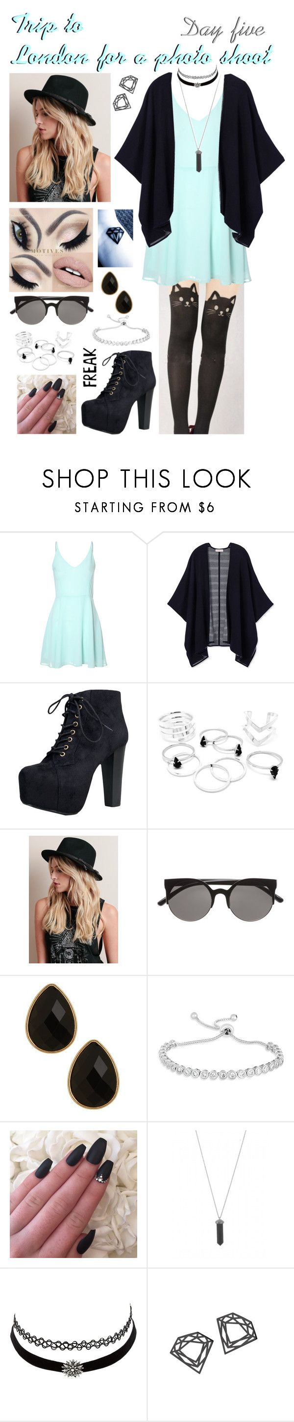 """""""Day 5, trip to London for a photo shot"""" by love-wasted ❤ liked on Polyvore featuring Glamorous, Tory Burch, Speed Limit 98, Natasha, Karen Kane, Charlotte Russe, Myia Bonner, London and photoshoot"""