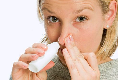 How to use a nasal sprays? Nasal sprays are a solution or suspension of medicine that are sprayed into the nostrils, usually to produce a local effect directly inside the nose. Some medicines can be administered as nasal sprays to act on other parts of the body. The medicine absorbed into the bloodstream from the lining of the nose, which is rich in blood vessels.