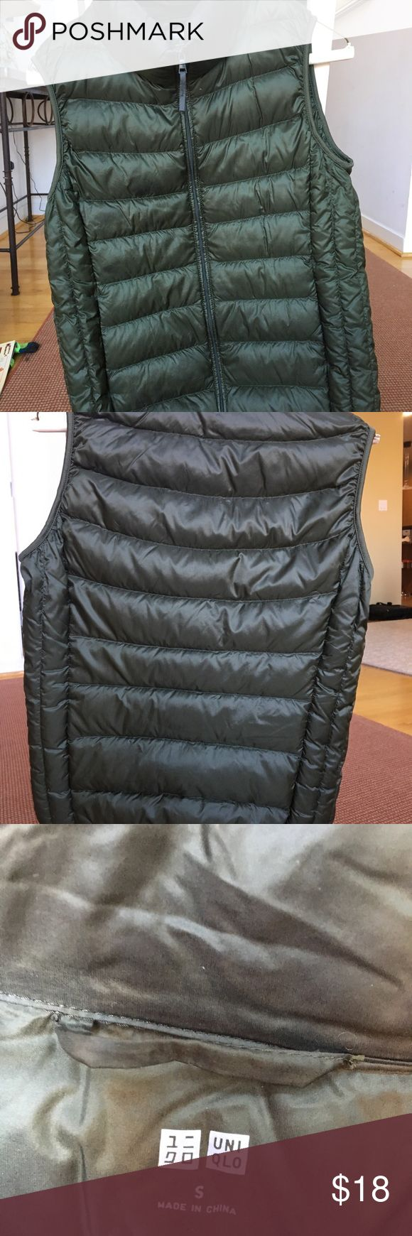 Gorgeous and warm Uniqlo vest, EUC Great vest and so warm!! Selling bc I got the same one in orange from PM. ENJOY the cold and look stylish! Uniqlo Jackets & Coats Vests