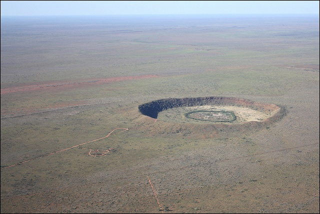 Wolfe Creek Crater (View from south-west) by Grey Albatross, via Flickr