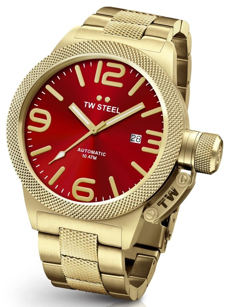 TW STEEL CANTEEN BRACELET AUTOMATIC WATCH 50mm GOLD CB116