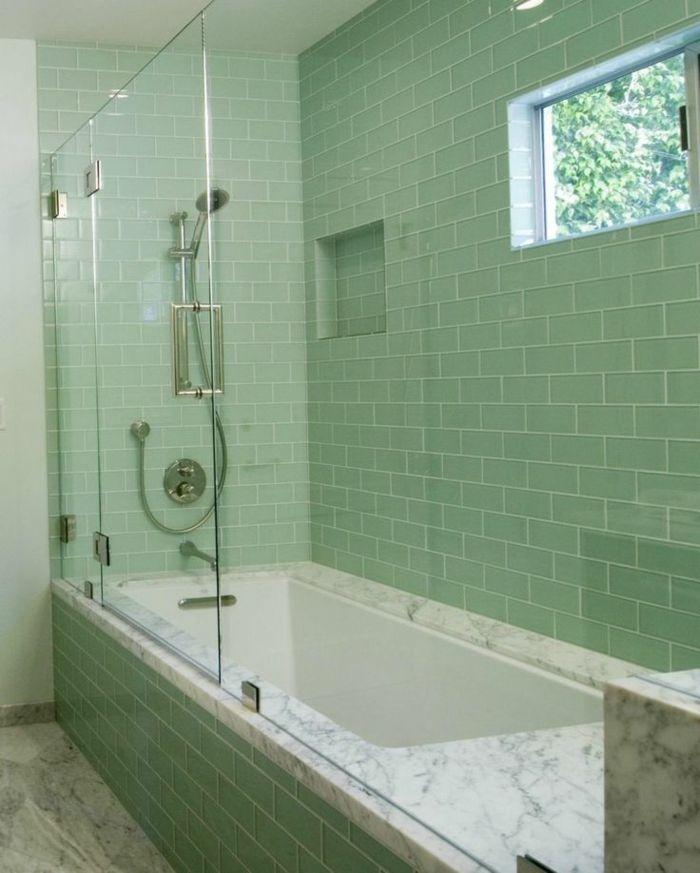salle de bains tendance carrelage couleur sauge Design intérieur