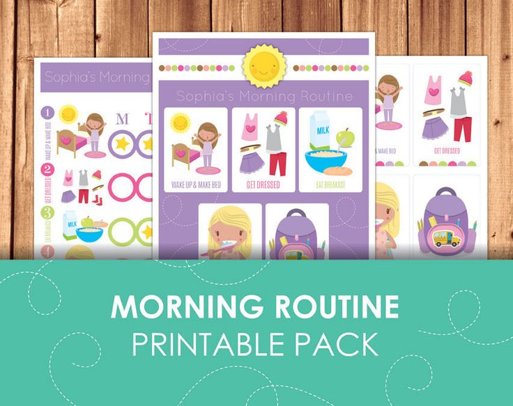 Printable Morning Routine Chart / Girl Morning by LittleGraphics