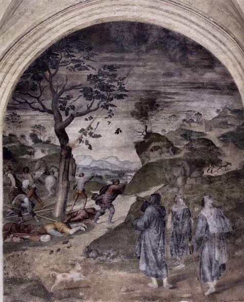 La punizione dei bestemmiatori (1509-1510; Firenze, Santissima Annunziata)