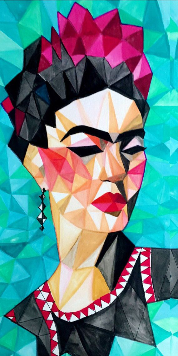 FRIDA KAHLO PAINTING by MizaelHuerta on Etsy